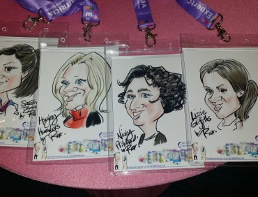 iPad caricatures at Gala Ball