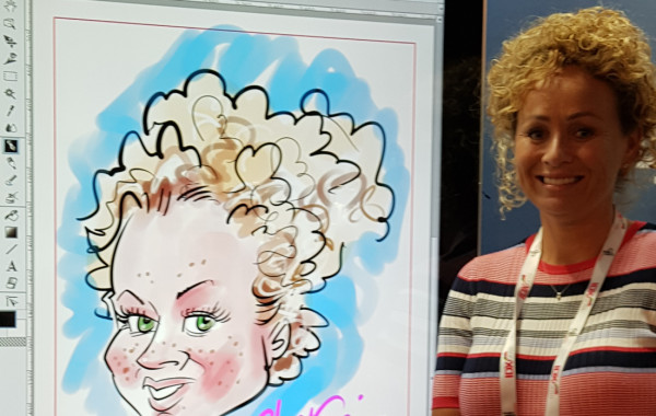 iPad Caricatures at Events