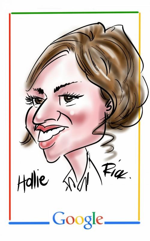 iPad caricature for Google