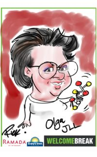 5 min iPad colour caricature by Rick
